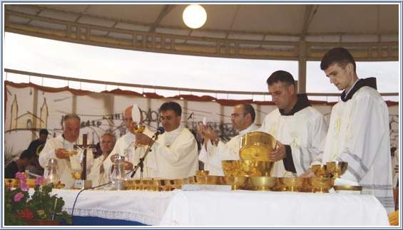 Eucharist Celebration during the International Youth Festival in Medjugorje
