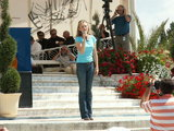 Tatiana Matejaš-Cameron at the Youth Festival in Medjugorje