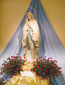 Crown Stars Our Lady Lourdes Statue James Church