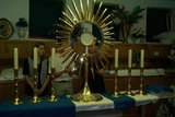 Golden monstrance from St. James church in Medjugorje