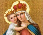Our Lady and Little Jesus with Crowns
