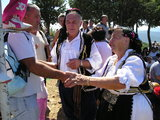 Meeting with locals in traditional dresses