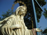 Our Lady statue at the Blue Cross
